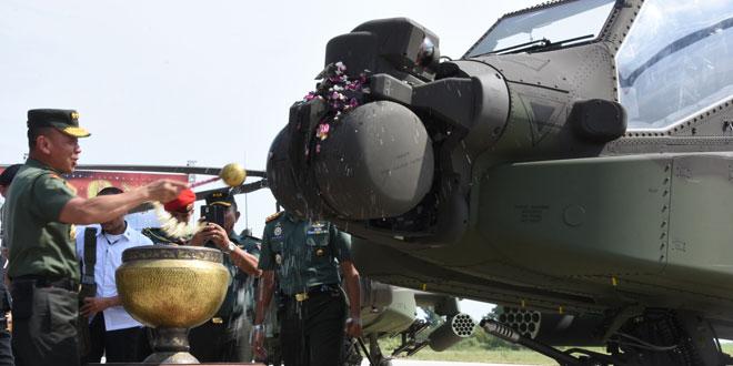 Delapan Heli Apache Memperkuat Skuadron 11/Serbu Semarang