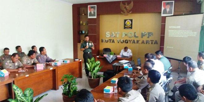 Dandim Jogja Berika Workshop Penanaman Jiwa Patriotisme dan Nasionalisme Kepada Sat Pol PP Kota Jogjakarta