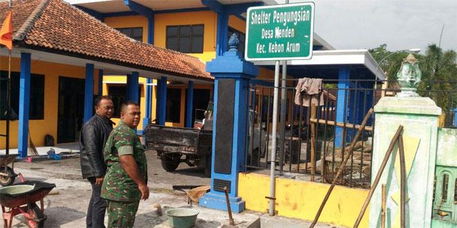 Babinsa Koramil 06/Kebonarum Cek Jalur Evakuasi dan Shelter Pengungsian Gunung Merapi