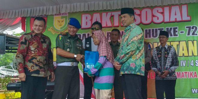 Sambut HUT ke-72 Pomad, Denpom Surakarta Gelar Baksos