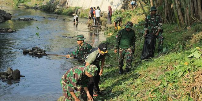 Gelar TMMD, Kodim 0734/Yogyakarta Sasar Sungai Code Menjadi Fokus Adalah Kebersihan