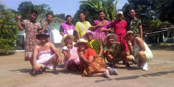 TNI Pakai Daster Untuk Meriahkan HUT Ke 73 Kemerdekaan Republik Indonesia