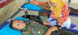 Sambut HUT ke 73 RI, Kodim Wonogiri Gelar Donor Darah