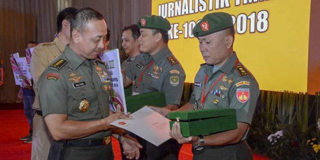 Kodam IV Kembali Borong Juara Lomba Karya Jurnalistik